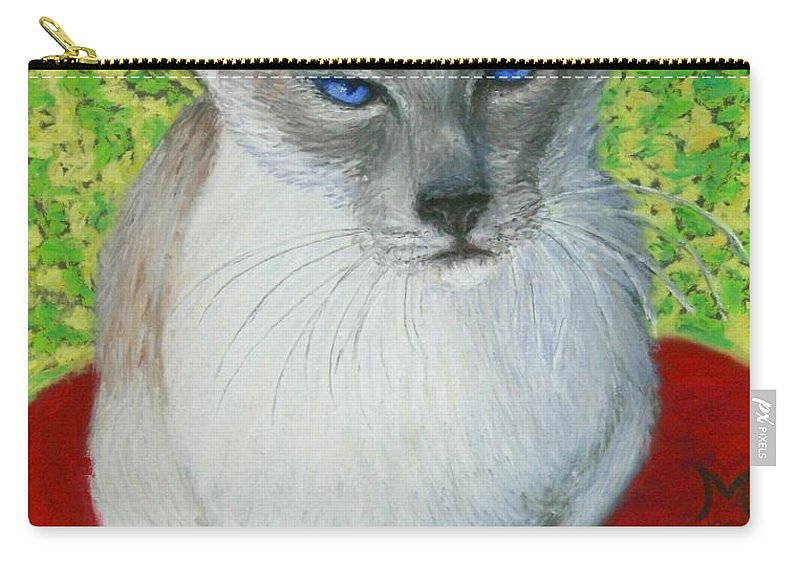 Siamese Carry-all Pouch featuring the painting I Am Siamese if you Please by Minaz Jantz