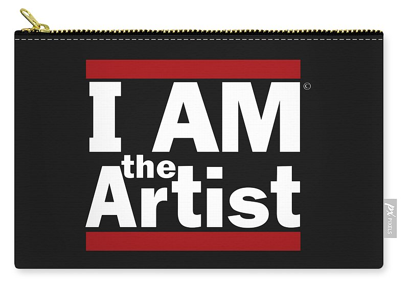 I Am The Artist Carry-all Pouch featuring the digital art I Am The Artist by Art the Artist Abdon