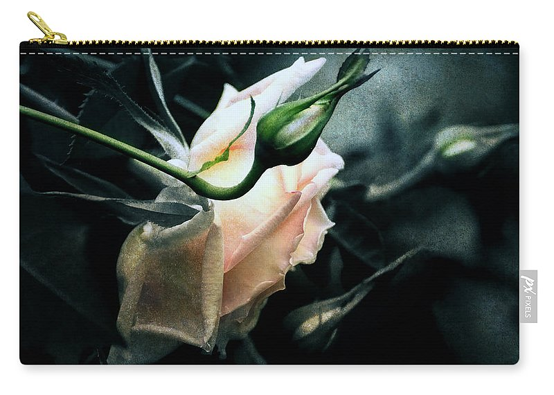 Rose Carry-all Pouch featuring the digital art I Am Your Ghost Of A Rose by Georgiana Romanovna