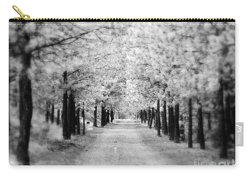 Trees Carry-all Pouch featuring the photograph I Can Only See So Far by Tara Turner