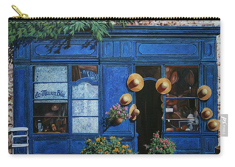 Shop Carry-all Pouch featuring the painting I Cappelli Gialli by Guido Borelli