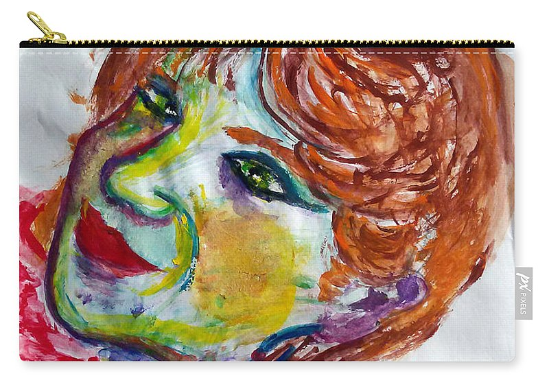 Ego Carry-all Pouch featuring the painting I-clown by Francesca Labanca