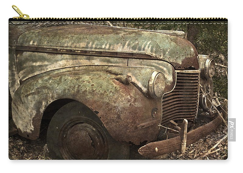 Rustbuckets Carry-all Pouch featuring the photograph I Could Use A Push by John Stephens