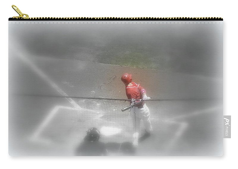 Baseball Carry-all Pouch featuring the photograph I Dream Of Baseball by Kathy Barney