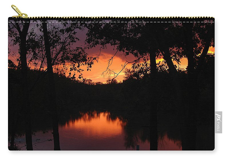 Sunset Carry-all Pouch featuring the photograph I Found Red October by J R Seymour