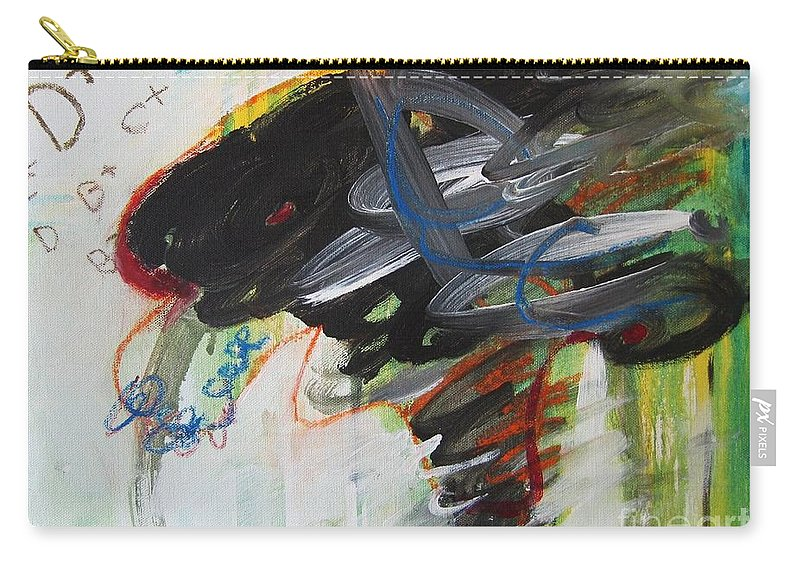 Abstract Paintings Paintings Abstract Art Paintings Carry-all Pouch featuring the painting I Got D by Seon-Jeong Kim