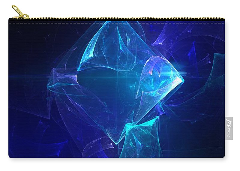 Abstract Digital Photo Carry-all Pouch featuring the digital art I Had Too Much To Dream Last Night by David Lane