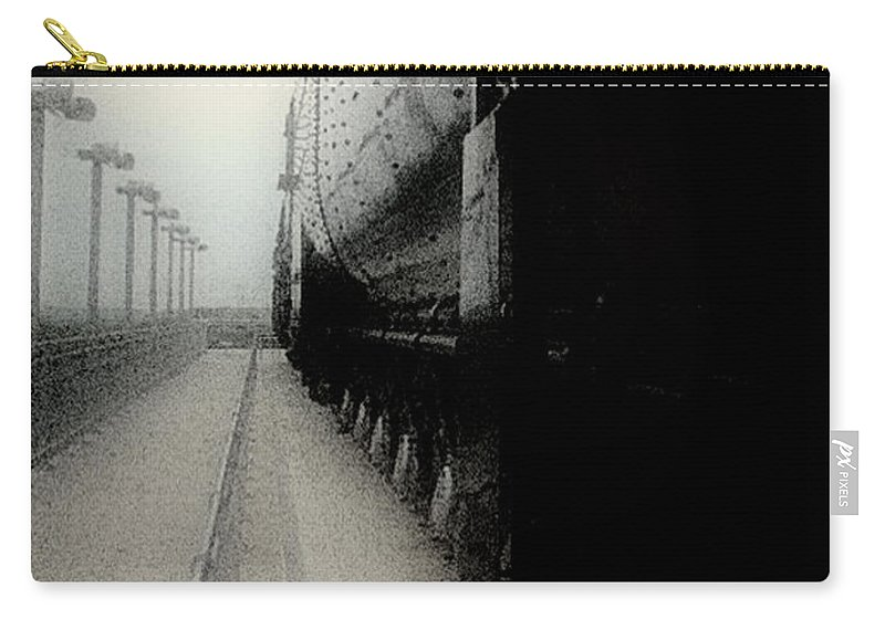Train Carry-all Pouch featuring the digital art I Hear That Lonesome Whistle Blow by RC DeWinter