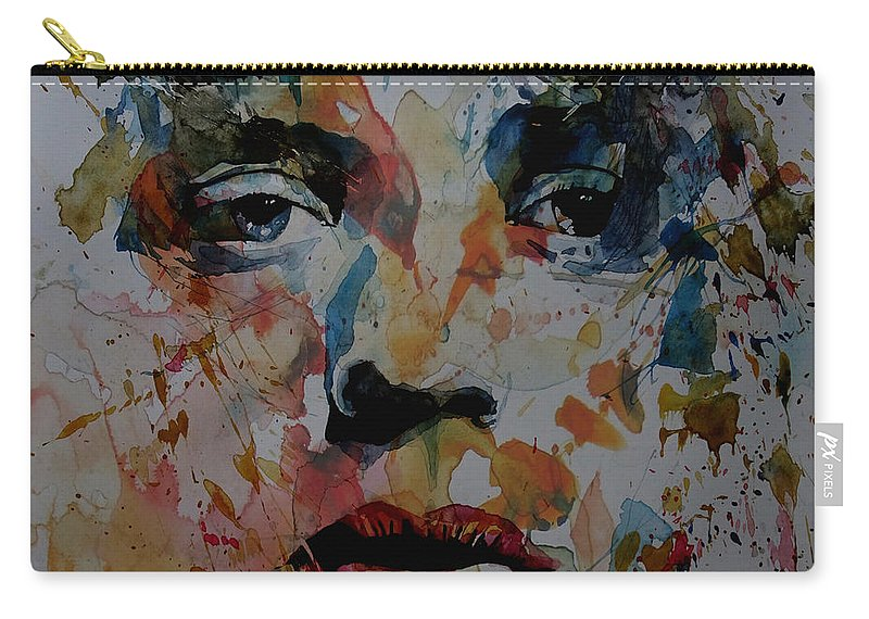 Mick Jagger Carry-all Pouch featuring the painting I Know It's Only Rock N Roll But I Like It by Paul Lovering