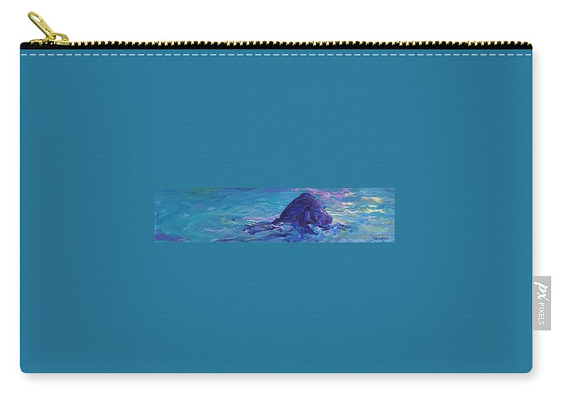 Labrador Retriever Carry-all Pouch featuring the painting I Know You're Here by Sheila Wedegis