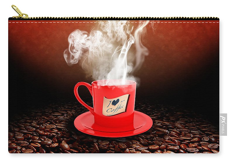 Coffee Carry-all Pouch featuring the photograph I Love Coffee by Stefano Senise