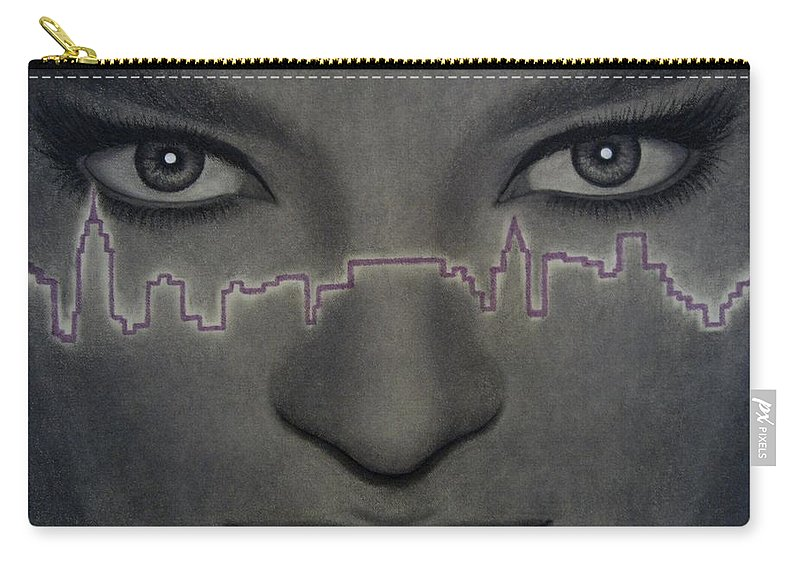 Woman Carry-all Pouch featuring the painting I Love New York by Lynet McDonald