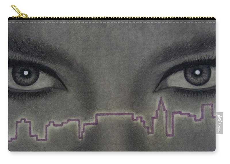 Woman Carry-all Pouch featuring the painting I Love Ny by Lynet McDonald