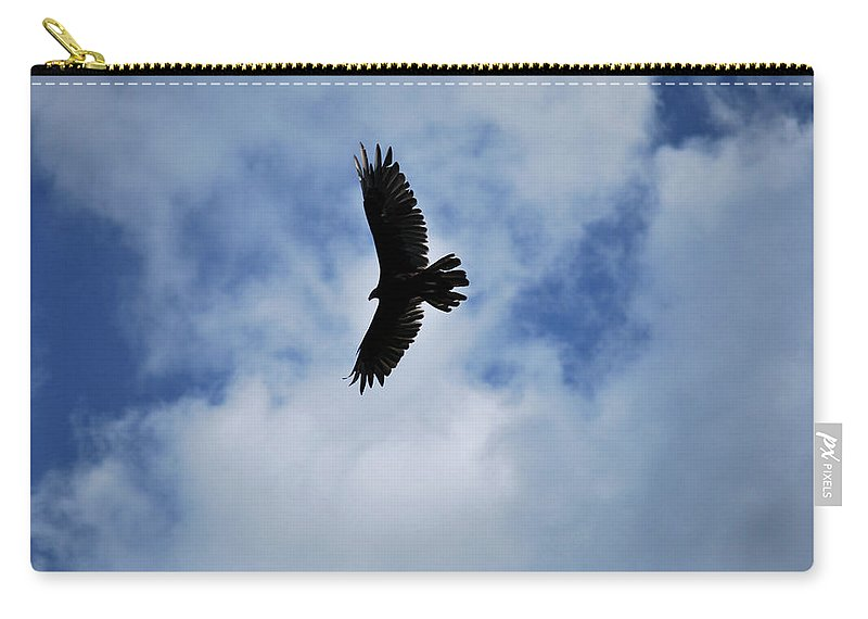 Bird Carry-all Pouch featuring the photograph I Love The View From Up Here by Lori Tambakis