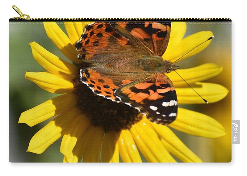 Butterfly Carry-all Pouch featuring the photograph I Love Your Nectar by Linda Burns