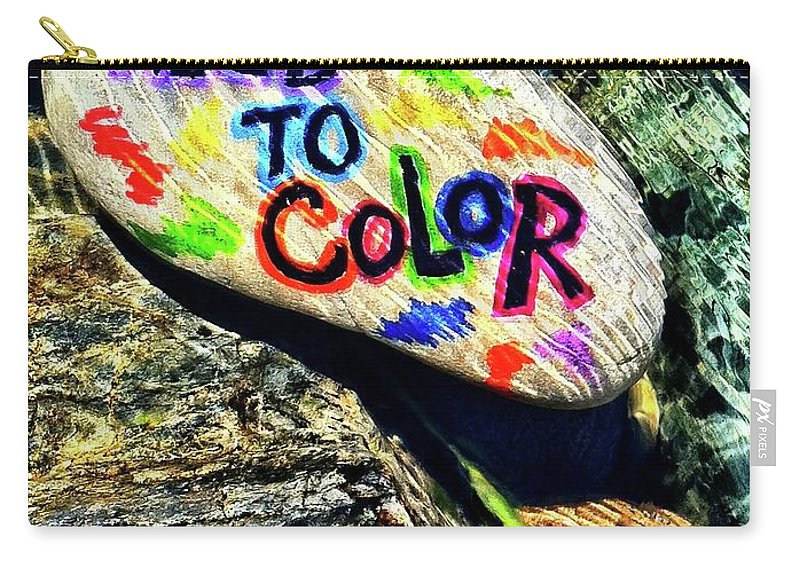 Carry-all Pouch featuring the photograph I Need To Color by Kathy Partak