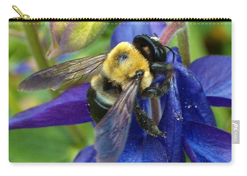 Bee Carry-all Pouch featuring the photograph I Never Knew by Sara Raber