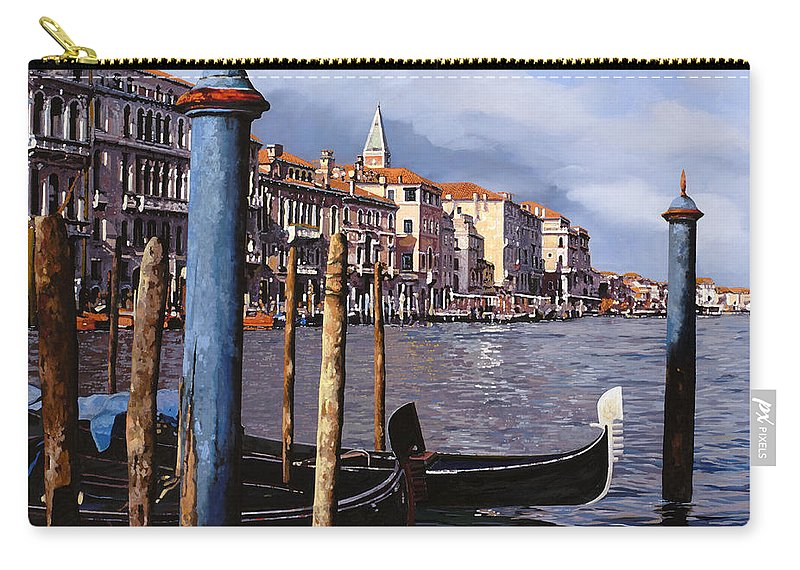 Venice Carry-all Pouch featuring the painting I Pali Blu by Guido Borelli