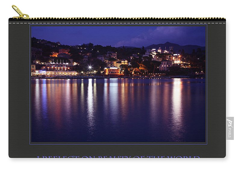 Motivational Carry-all Pouch featuring the photograph I Reflect On Beauty Of The World by Donna Corless