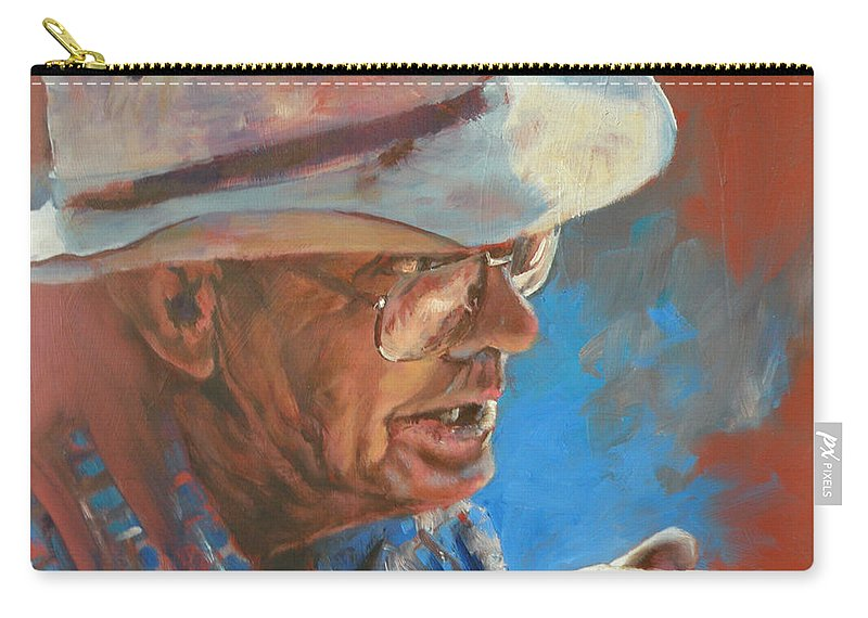 Story Telling Carry-all Pouch featuring the painting I Remember When by Mia DeLode