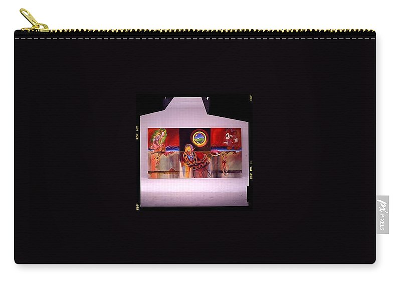 Spiderman Carry-all Pouch featuring the painting I Saw The Figure Five In Gold by Charles Stuart