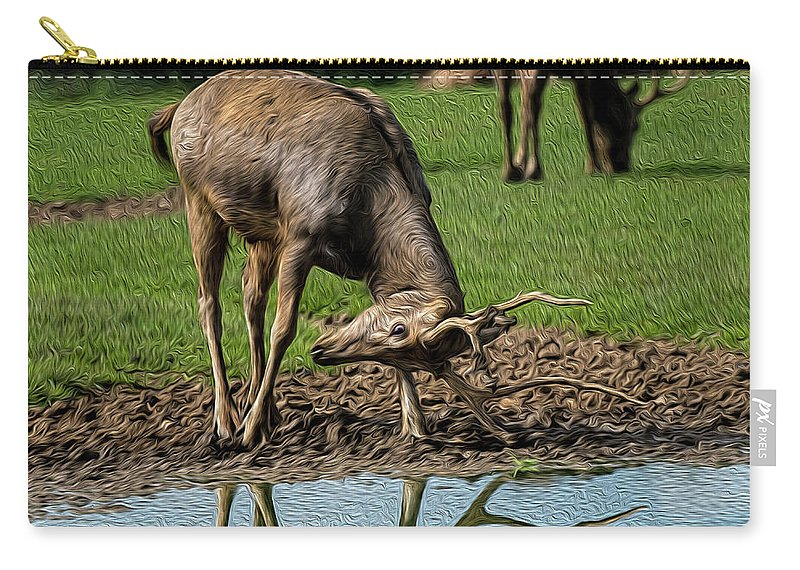 Wildlife Carry-all Pouch featuring the photograph I See Me by Chris Thaxter