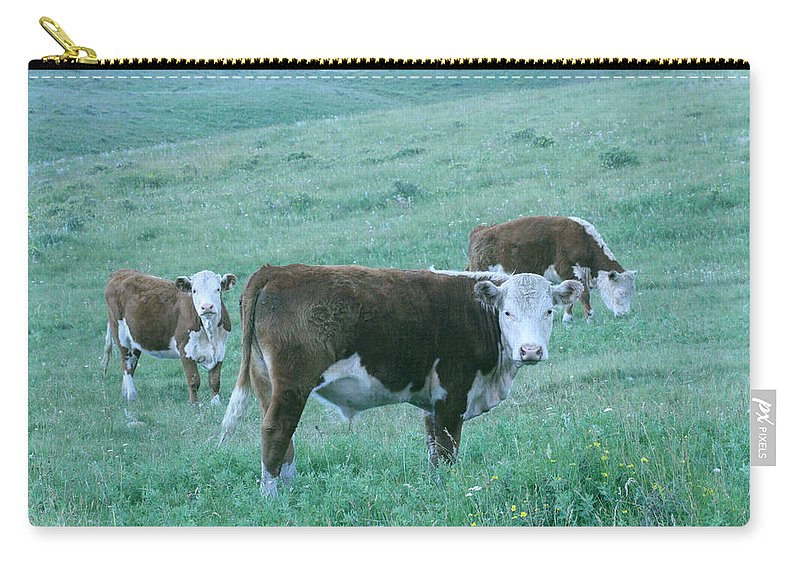 Agriculture Carry-all Pouch featuring the photograph I See You by Mary Mikawoz