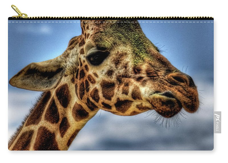 Giraffe Carry-all Pouch featuring the photograph I See You by Saija Lehtonen