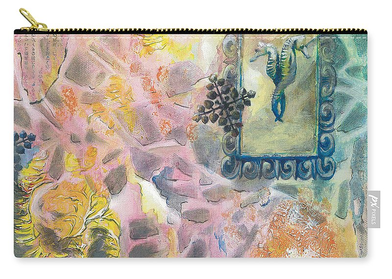Ocean Carry-all Pouch featuring the painting I Sense What We by Arlissa Vaughn
