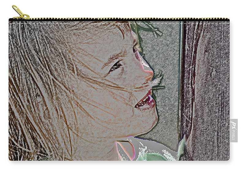 Childhood Carry-all Pouch featuring the photograph I Spy by Colleen Coccia