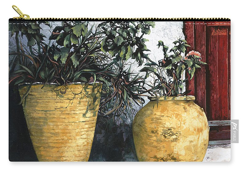 Vases Carry-all Pouch featuring the painting I Vasi by Guido Borelli