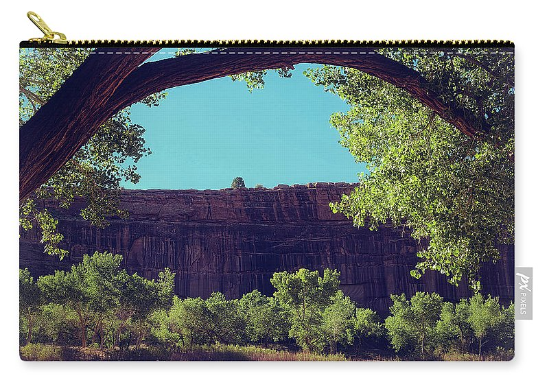 Canyon Carry-all Pouch featuring the photograph I Want To Be With You by Lucinda Walter