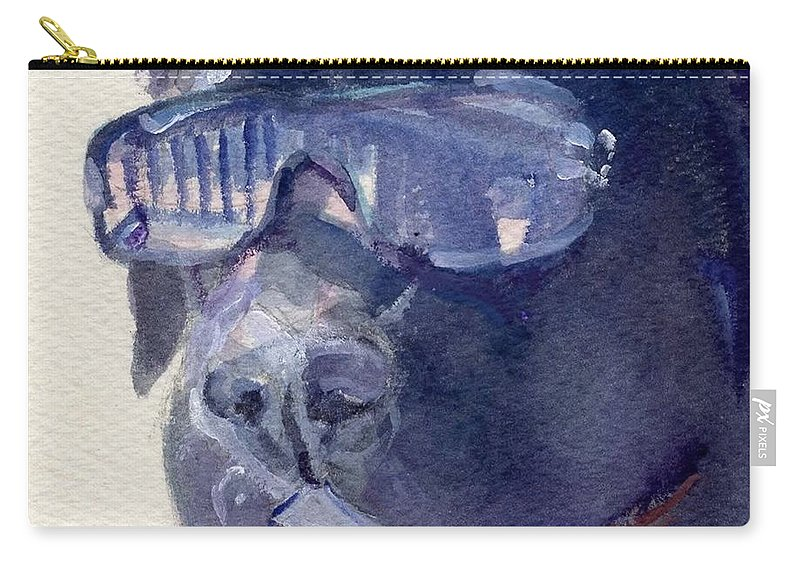 Sunglasses Carry-all Pouch featuring the painting I Wear My Sunglasses At Night by Sheila Wedegis