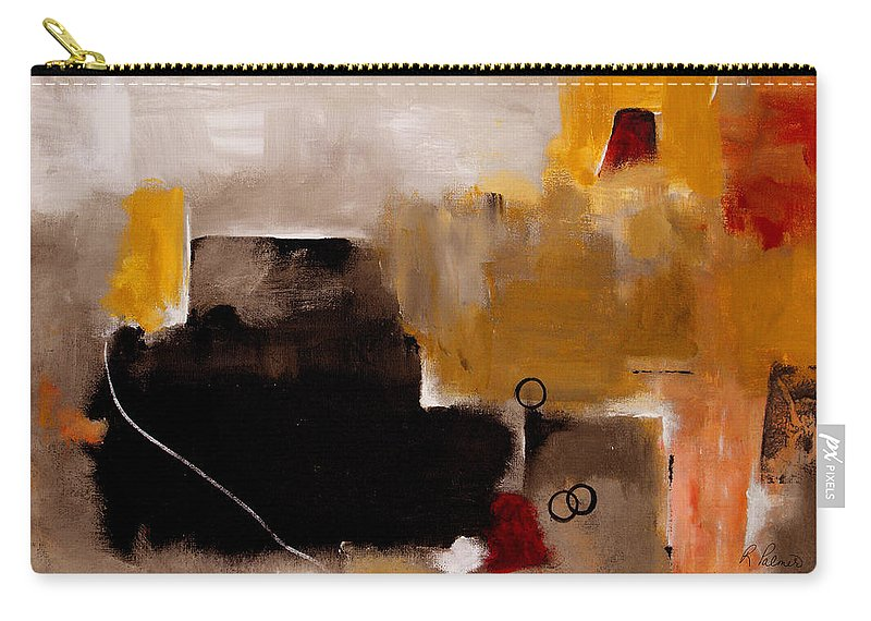 Abstract Carry-all Pouch featuring the painting I Wonder by Ruth Palmer