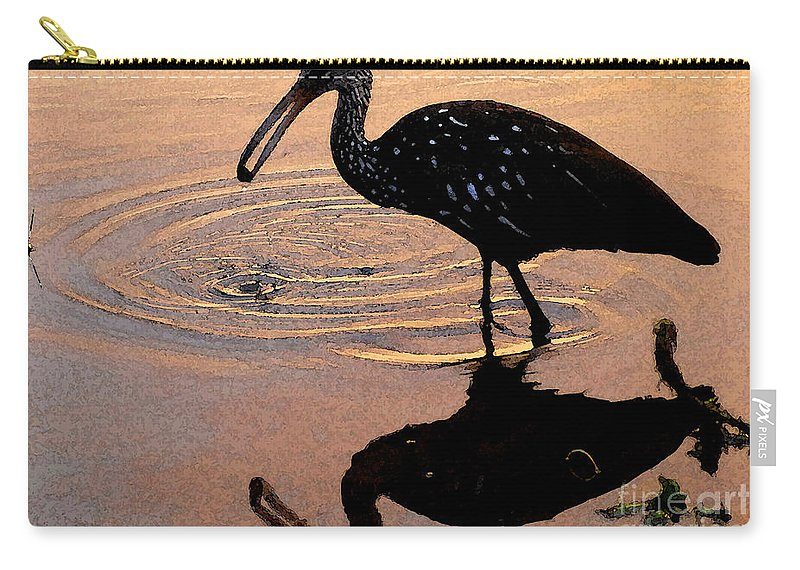 Ibis Carry-all Pouch featuring the painting Ibis At Dusk by David Lee Thompson