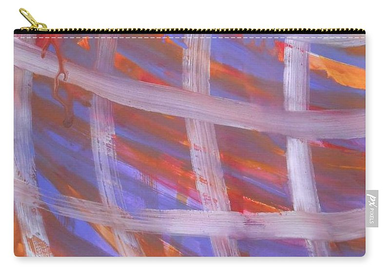 Abstract Carry-all Pouch featuring the painting Tic Tac Toe by Denise Davis