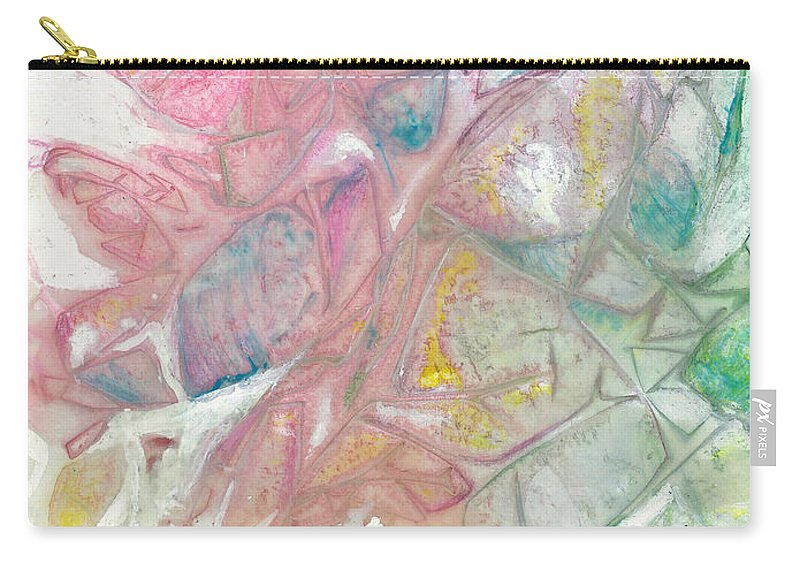 Ice Carry-all Pouch featuring the painting Ice by Arlissa Vaughn