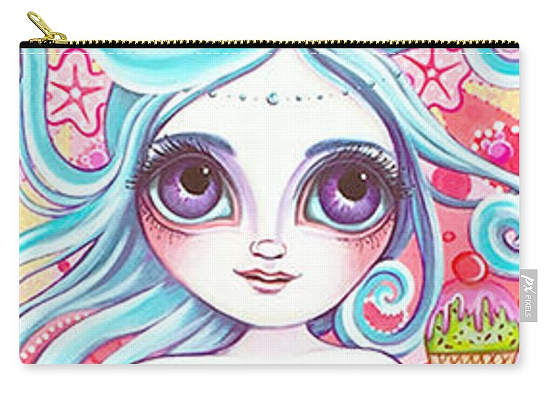 Mermaid Carry-all Pouch featuring the painting Ice Cream Fantasy by Jaz Higgins