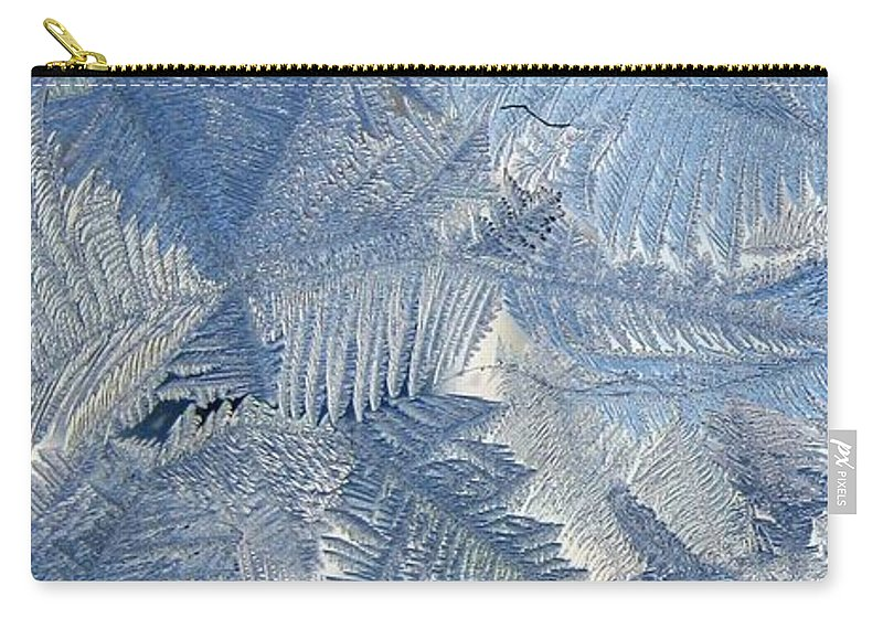 Ice Carry-all Pouch featuring the photograph Ice Crystals by Rhonda Barrett