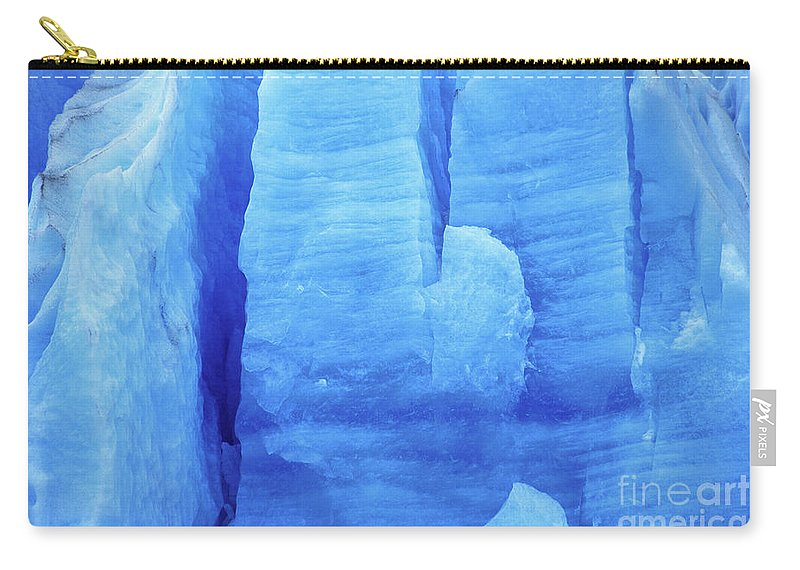 Glacier Carry-all Pouch featuring the photograph Ice Formations by James Brunker