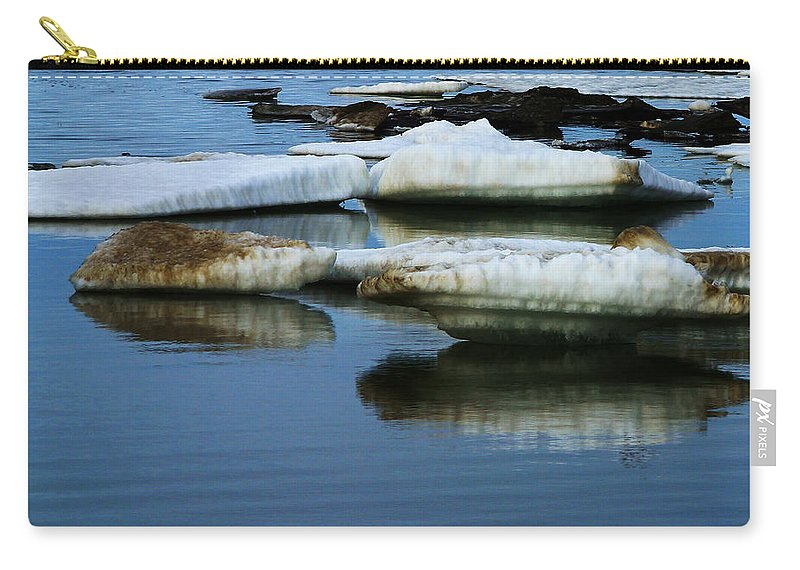 Ice Carry-all Pouch featuring the photograph Ice In The Arctic by Anthony Jones