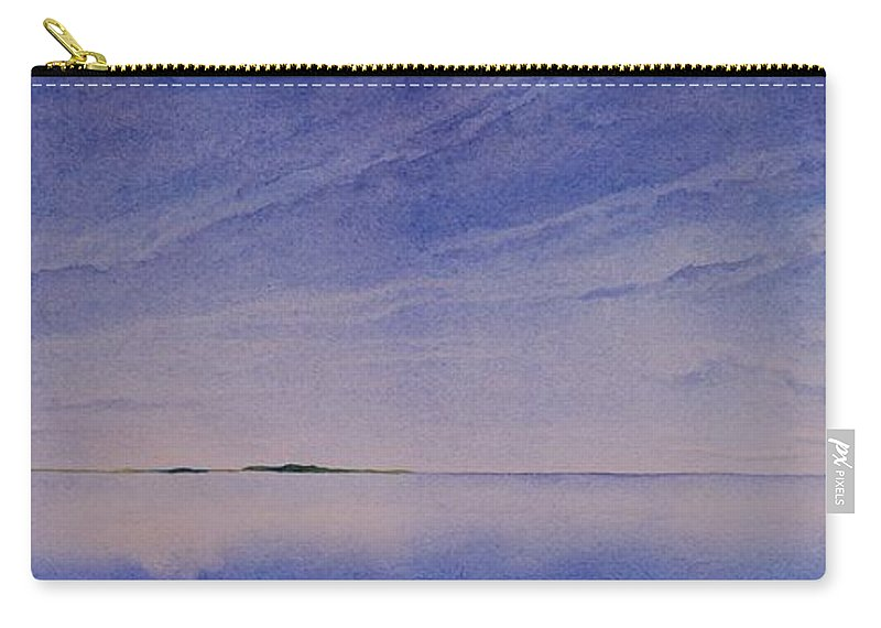 Landscape Carry-all Pouch featuring the painting Ice Lake by Ruth Kamenev