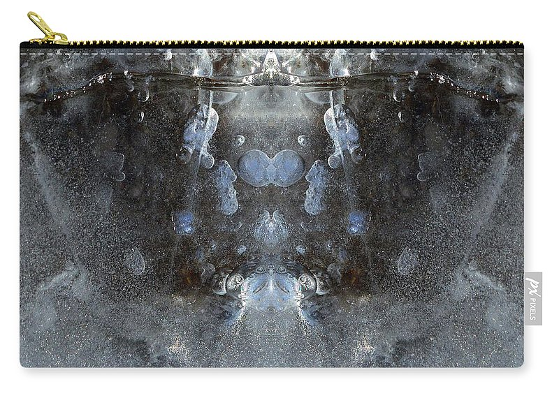 Abstract Carry-all Pouch featuring the digital art Ice Mass Two by Lyle Crump