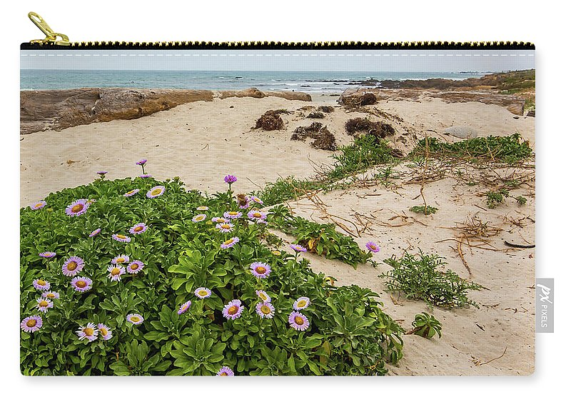 Ice Plant Carry-all Pouch featuring the photograph Ice Plant Booms On Pebble Beach by Patti Deters