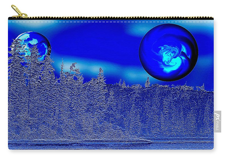 Blue Planet Carry-all Pouch featuring the photograph Ice Skies by Andrea Lawrence