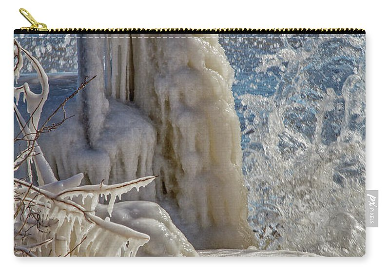 Ice Carry-all Pouch featuring the photograph Ice Structures by Emma England