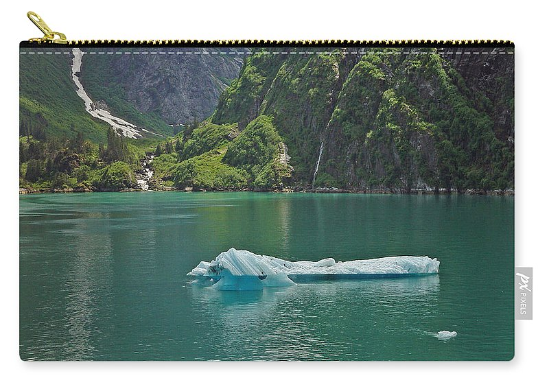 Iceburg Carry-all Pouch featuring the photograph Ice Tracy Arm Alaska by Heather Coen
