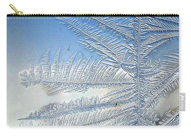 Ice Carry-all Pouch featuring the photograph Ice Tree by Rhonda Barrett