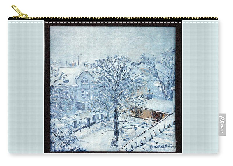 Landscape Carry-all Pouch featuring the painting Ice White by Pablo de Choros