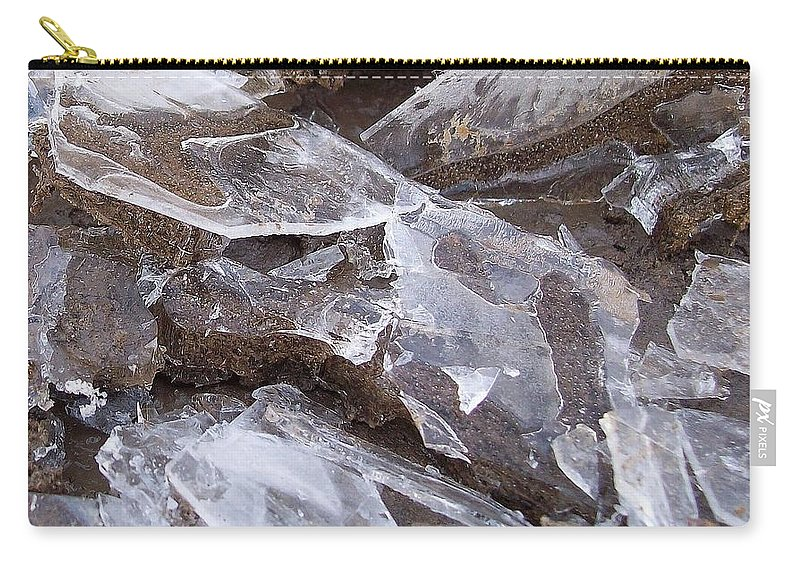 Ice Carry-all Pouch featuring the photograph ice by Wolfgang Schweizer